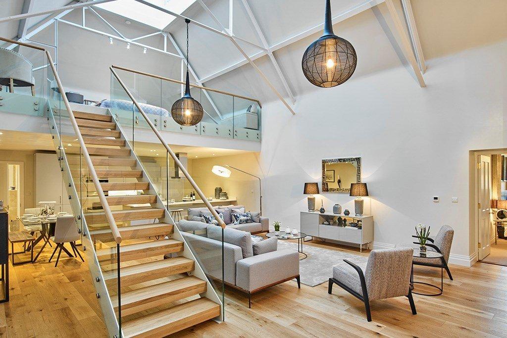 scala di design legno interno