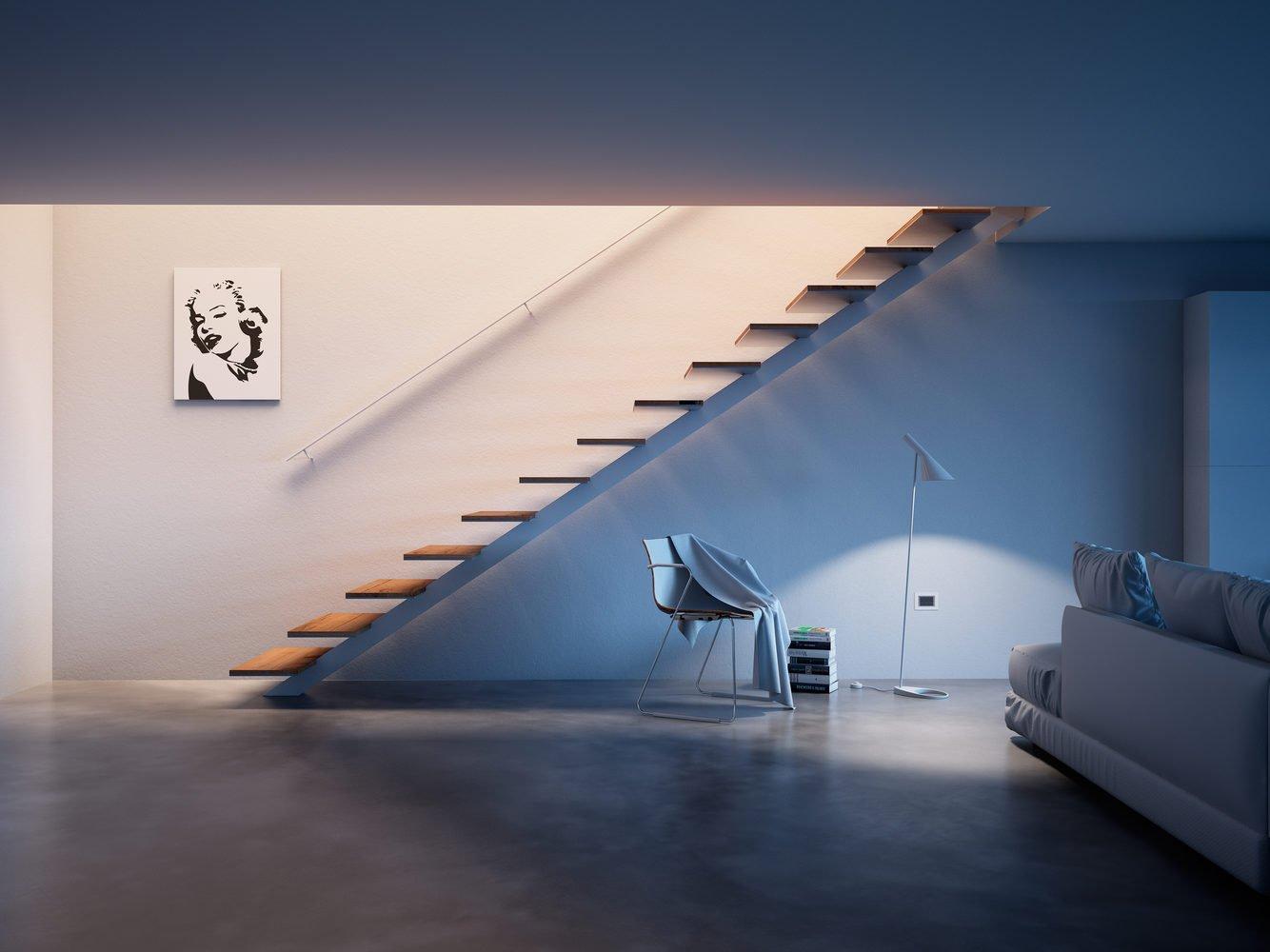 Vista scala a giorno in metallo e legno- residenziale