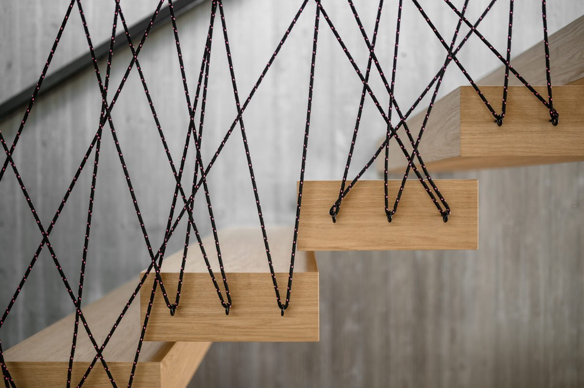 scala in legno design Tyrol Hotel